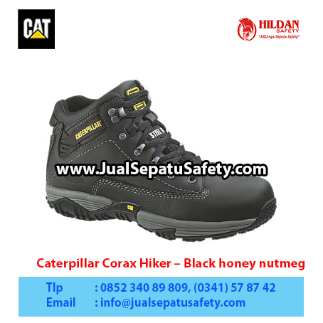 Caterpillar Corax Hiker – Men's Work Boot – Black honey nutmeg