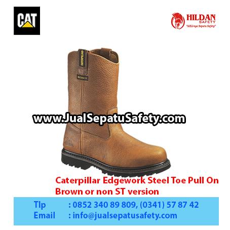 Caterpillar Edgework Steel Toe Pull On – Men's Work Boot – Brown or non ST version1