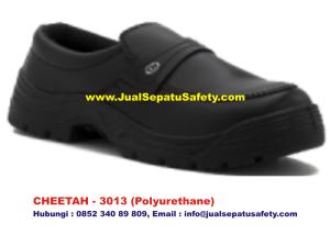 Sepatu Safety Shoes CHEETAH 3013 Pendek Slip On Tanpa Tali