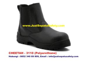 Sepatu Safety Shoes CHEETAH 3110 Semi Boot Elastic Samping