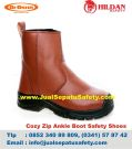 DR.OSHA Cozy Zip Ankle Boot PU – Sepatu Safety Termurah