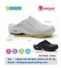 OXYPAS JANA, Sepatu Kulit PUTIH Slip On Untuk Tenaga Medis