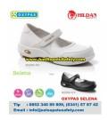 OXYPAS SELENA, Sepatu Perawat NURSE Kulit Warna Putih