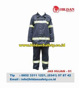 RC.001, Jas Hujan Safety Biru Garis Silver