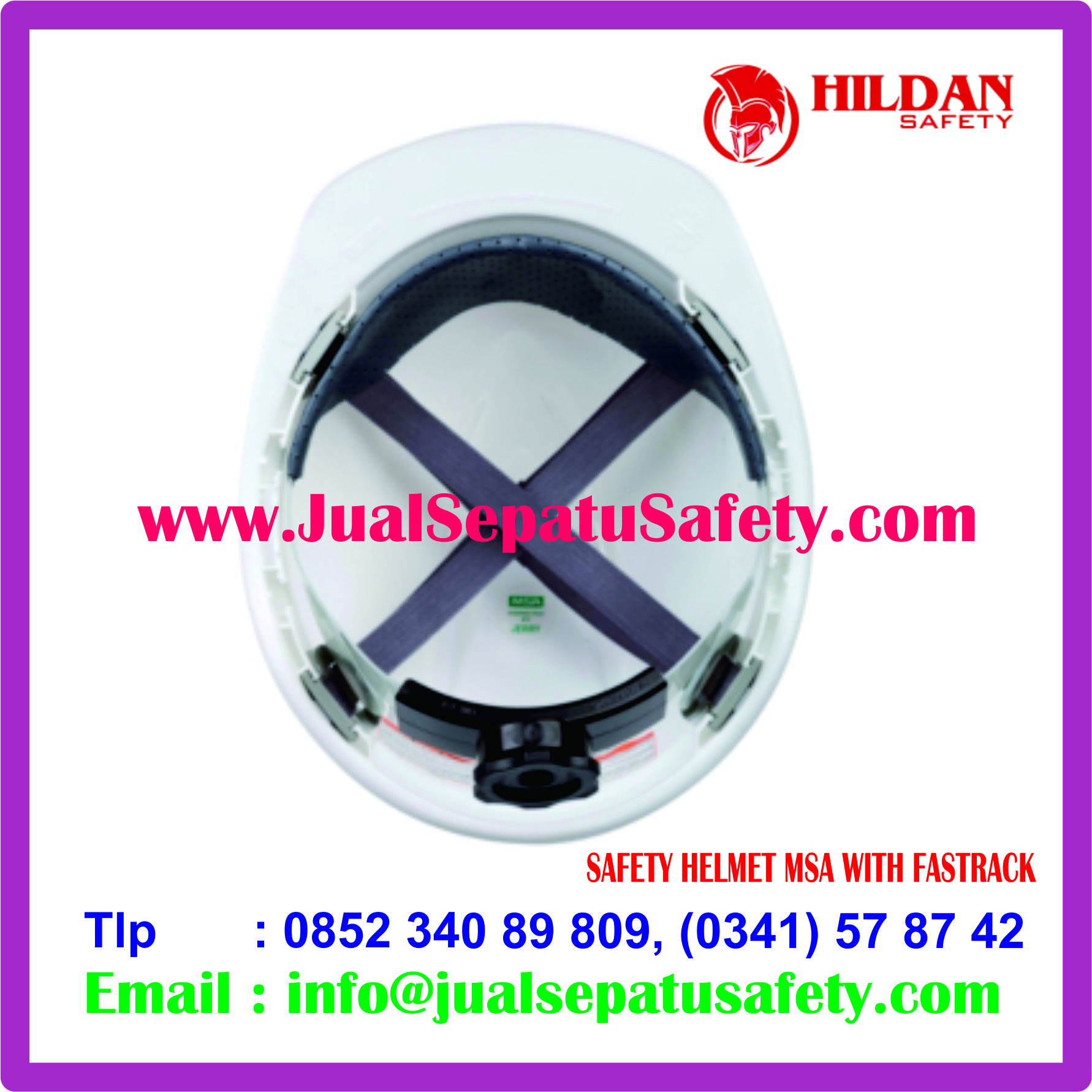 SAFETY HELMET MSA WITH FASTRACK