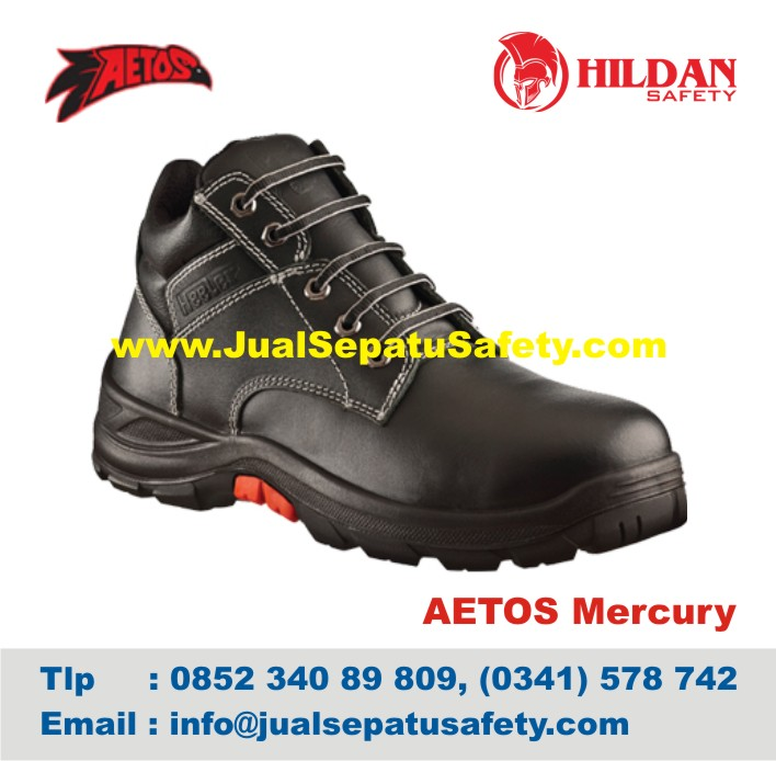 Sepatu Safety Shoes AETOS Mercury 813111 Black