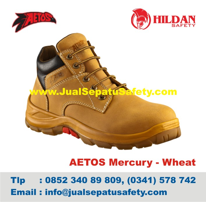 Sepatu Safety Shoes AETOS Mercury 813111 Wheat