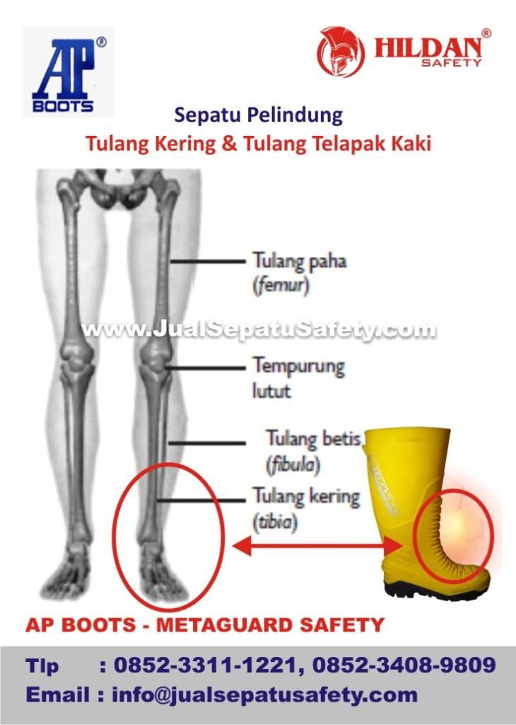 AP BOOTS METAGUARD SAFETY, Sepatu Pelindung Tulang Kering dan Tulang Telapak Kaki