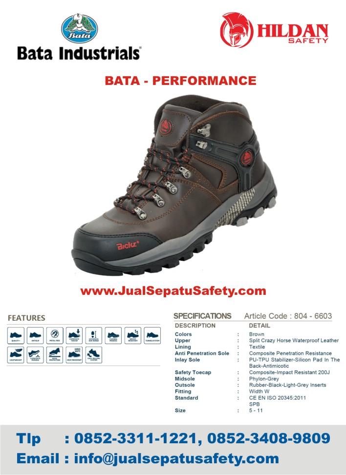 Jual Sepatu Safety Bata Performace Kulit ASLI