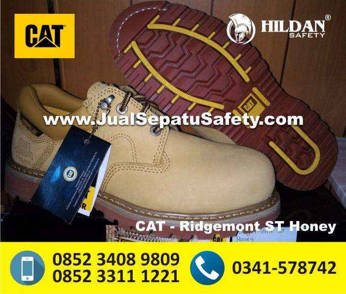 Gambar Sepatu Safety CATERPILLAR Original IMPORT - CAT Ridgemont ST Honey