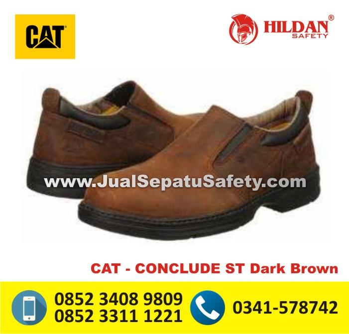 Sepatu Boot Caterpillar SURABAYA - CAT CONCLUDE ST Dark Brown