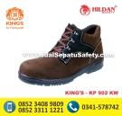 KP 902 KW – Sepatu Safety Pendek Bertali Warna Coklat