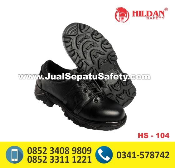 HS104,Distributor Resmi Sepatu Safety Pendek Tanpa Tali