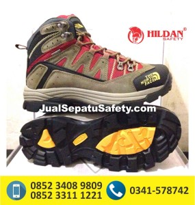 The North Face 3825 – Grey Red, harga sepatu outdoor,sepatu outdoor snta,sepatu outdoor wanita