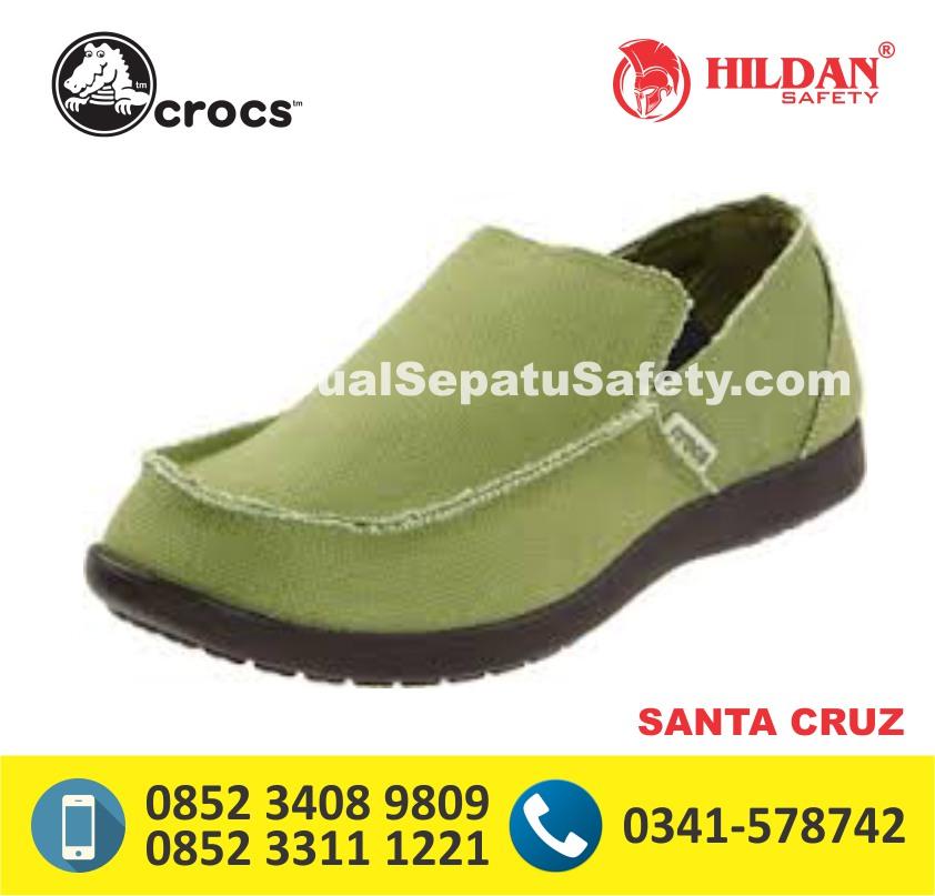 crocs santa cruz men green