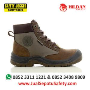 harga-sepatu-safety-riding-boots-jogger-dakkar-019-coklat-gelap-di-indonesia