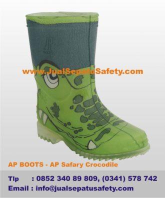 Harga Sepatu BOOTS ANAK Gambar BUAYA Warna HIJAU Asli Karet ... 04093999a4