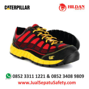harga-sepatu-safety-shoes-caterpillar-streamline-red