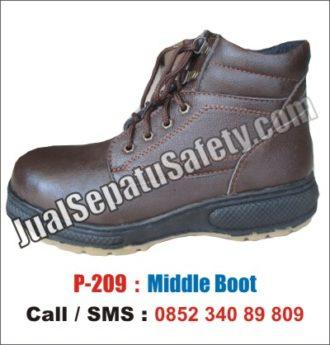 P-209 Safety Shoes Casual Kulit Asli Keren Terbaru dan Termurah ... f0726c7ef6